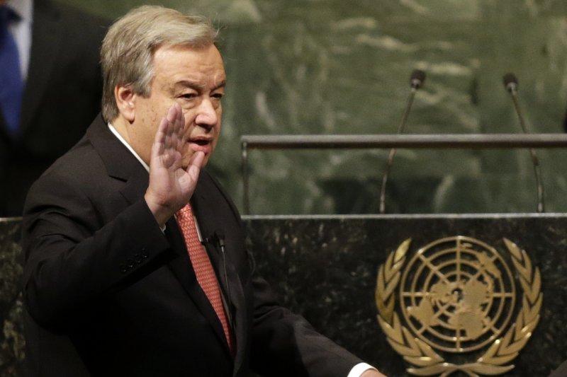 新任聯合國祕書長古特雷斯(António Guterres)(AP)