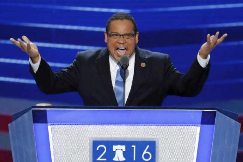 民主黨全國委員會(DNC)主席候選人,明尼蘇達州聯邦眾議員埃里森(Keith Ellison)。(AP)