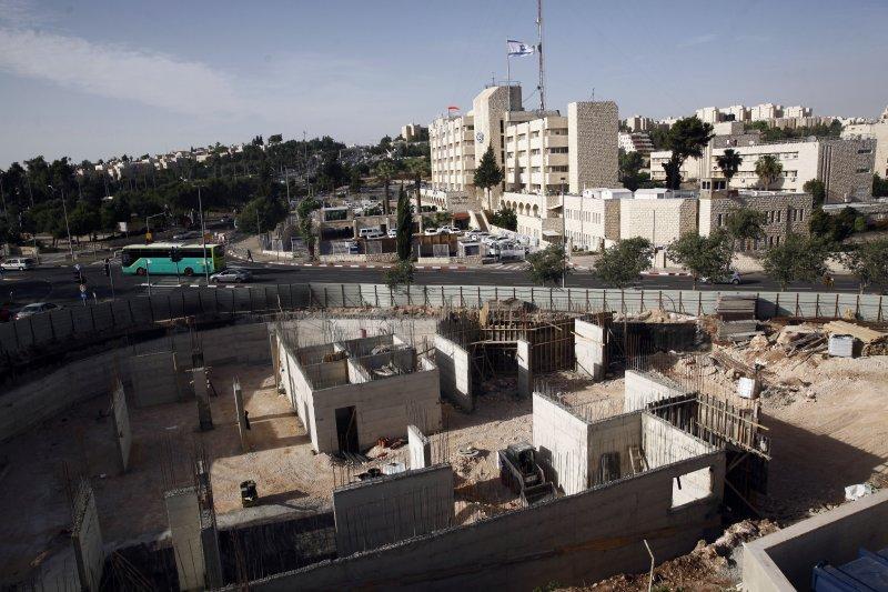 以色列正在東耶路撒冷興建的屯墾區(AP)