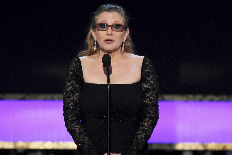 飾演電影《星際大戰》(Star Wars)莉亞公主(Princess Leia)的好萊塢女星嘉莉費雪(Carrie Fisher)(AP)