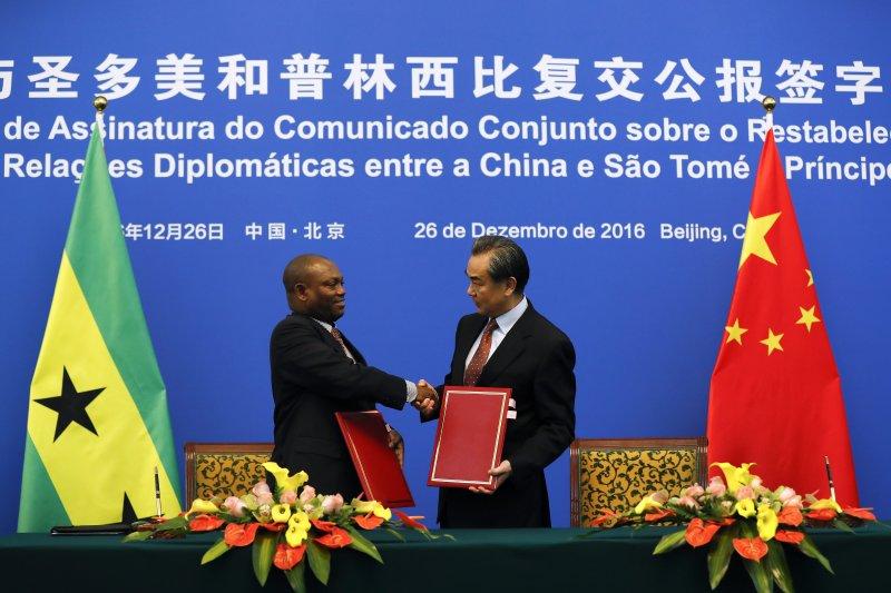 西非國家聖多美普林西比與台灣斷交不到1周就與中國建交(AP)