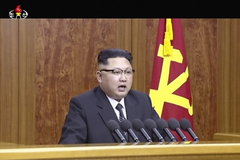 金正恩表示,朝鮮已快完成能夠搭載核彈頭的遠程導彈。(美聯社)