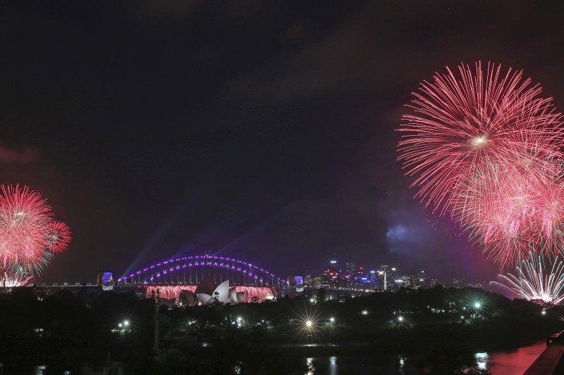 澳洲雪梨跨年煙火(AP)