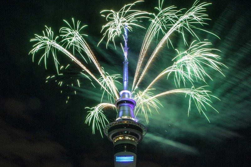 紐西蘭奧克蘭跨年煙火(AP)