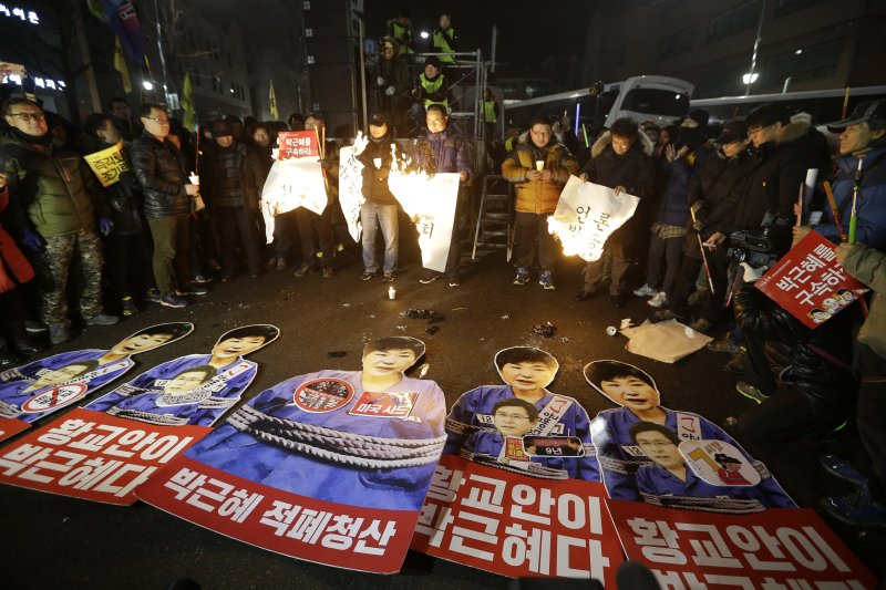 反朴槿惠的南韓民眾上街跨年示威(AP)