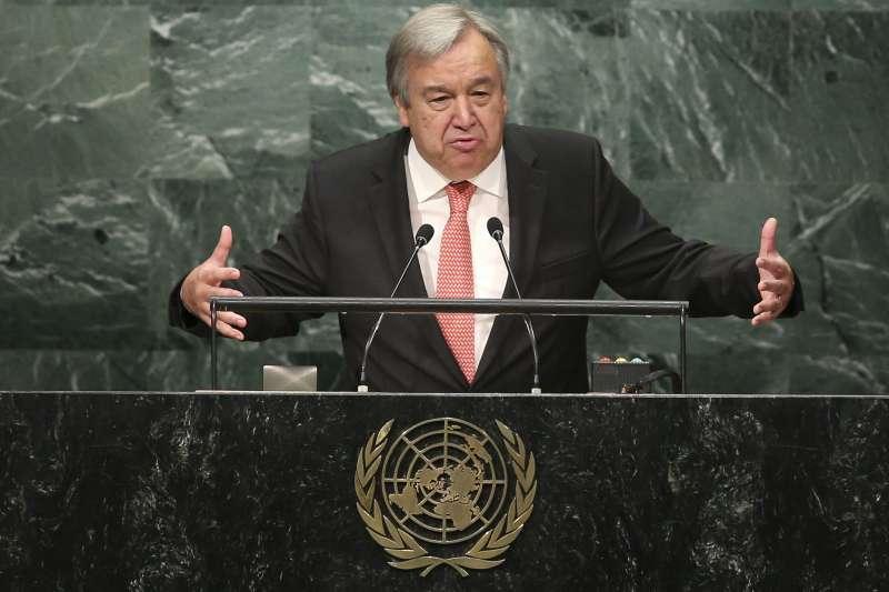 葡萄牙前總理、聯合國難民署前高級專員古特雷斯在1月1日正式接下聯合國安全理事會秘書長一職。(美聯社)