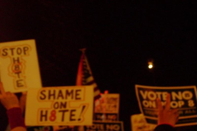 2008/11/05 Santa Monica March against California Proposition 8 (作者自攝)