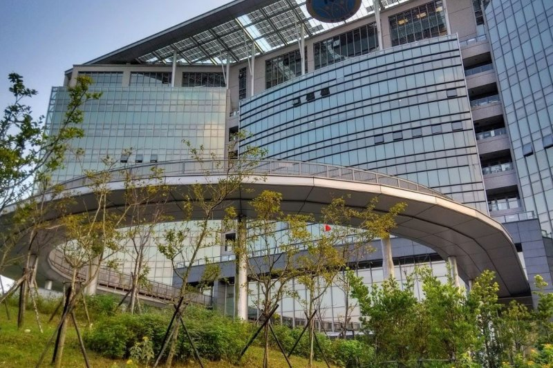 新落成的衛生福利部大樓。(圖/文 劉任昌)