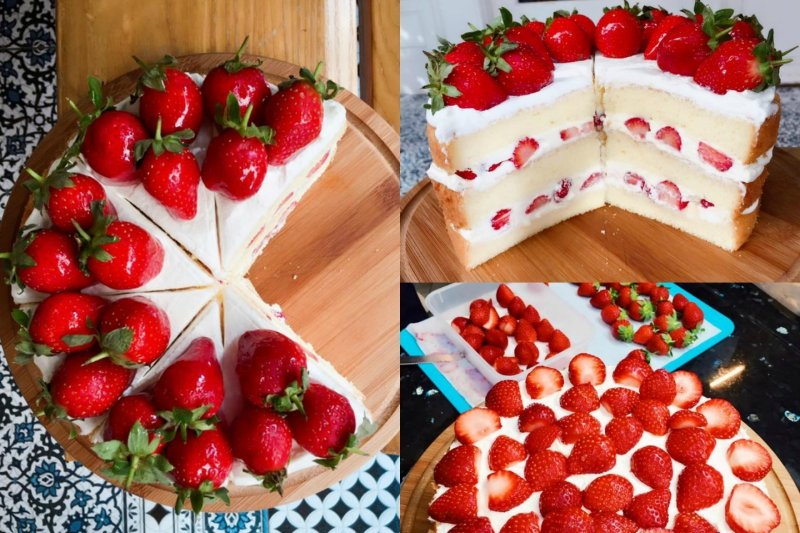 又到了一年四季中最浪漫的草莓季節啦(圖/Miss V Bakery@Facebook,OpenRice提供)