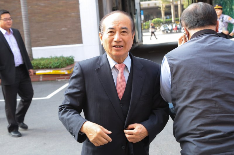 20170105-前立法院長王金平5日出席國民黨團大會。(顏麟宇攝)