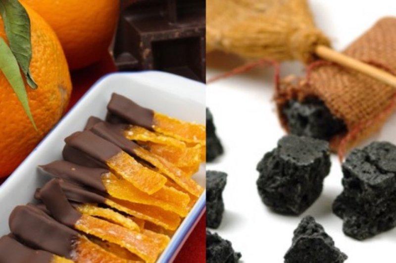 橘子皮焦糖和黑炭糖