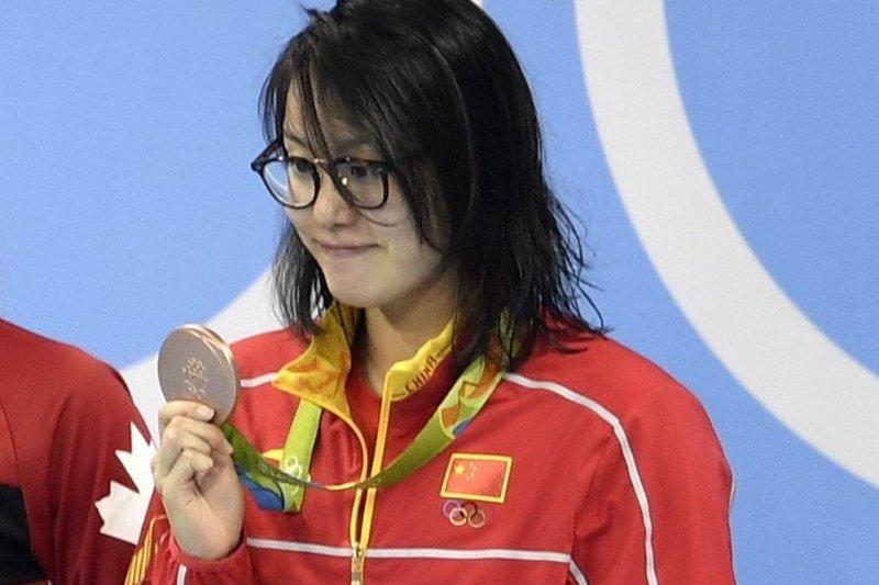 里約奧運女子100公尺仰式,中國選手傅園慧奪得銅牌(AP)