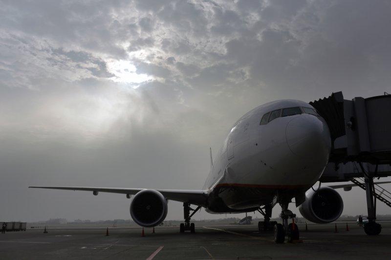 蔡英文總統7日出訪中南美洲友邦搭乘的專機(總統府)