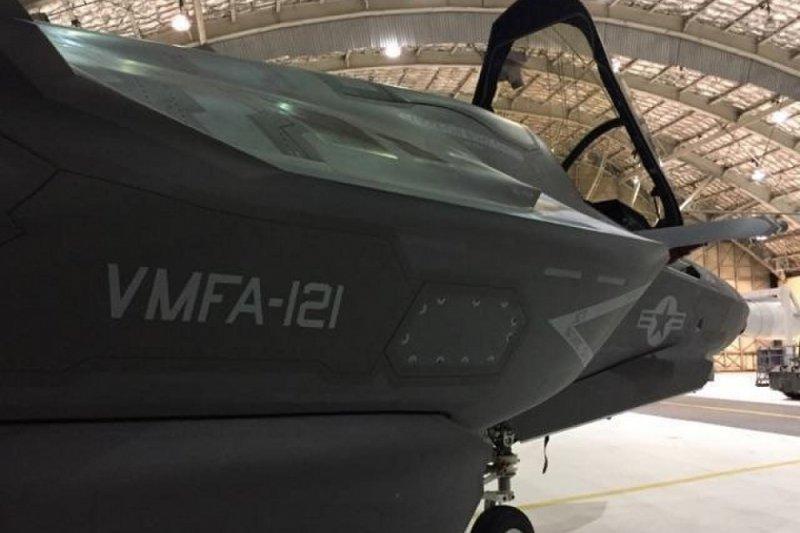 美軍VMFA-121中隊的F-35B。(美國陸戰隊)
