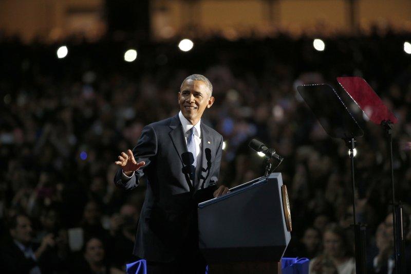 美國總統歐巴馬發表告別演說(AP)