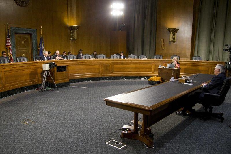 提勒森(Rex Tillerson)參與參議院外交委員會的任命聽證會。(美聯社)