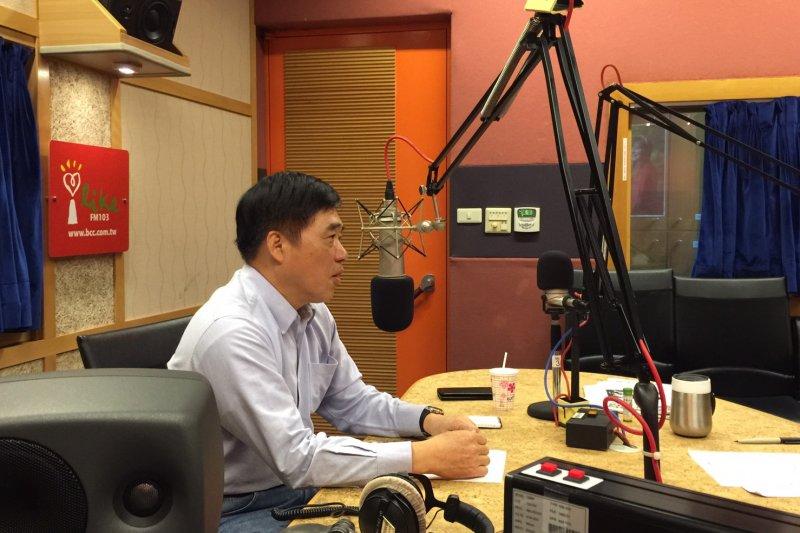 郝龍斌12日接受趙少康廣播節目專訪。(郝龍斌辦公室提供)
