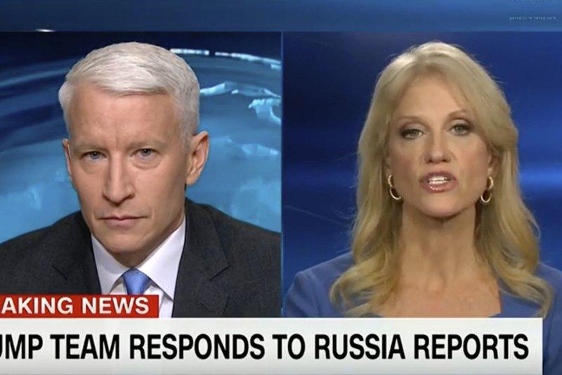 川普發言人康威矢口否認川普與俄國有任何聯繫。(美聯社)