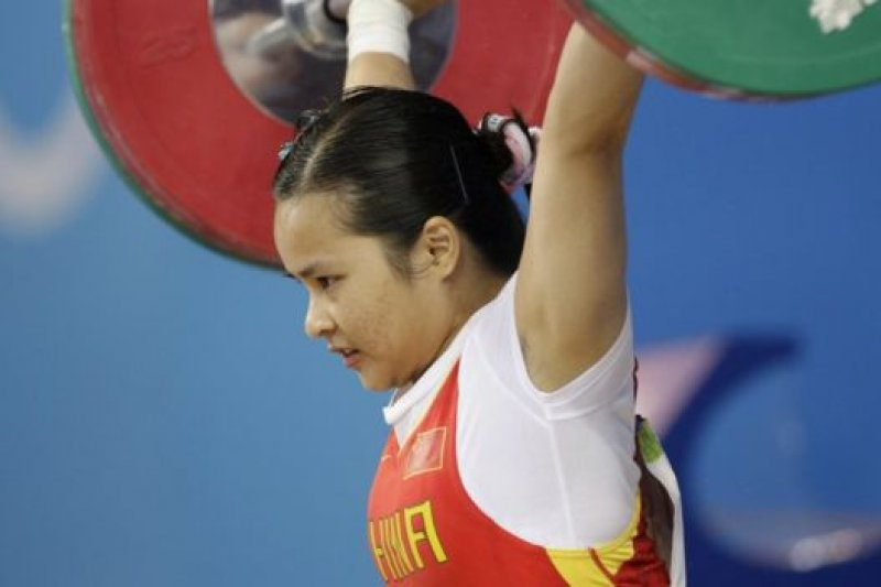 陳燮霞原是奪得北京奧運會中國代表團首金的選手。(BBC中文網)