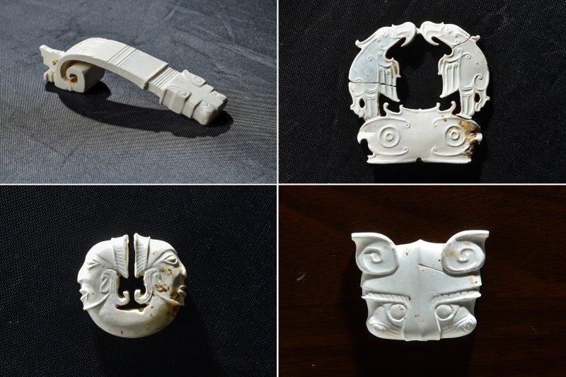 湖北天門市石家河新石器時代遺址出土的玉器(新華社)