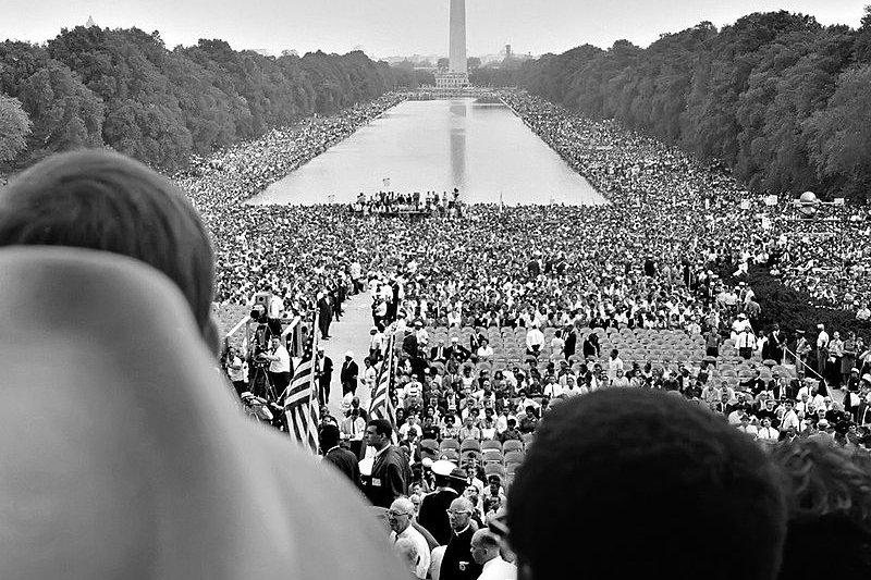 1963年8月28日,向華盛頓進軍活動吸引超過20萬人。(wikipedia/public domain)
