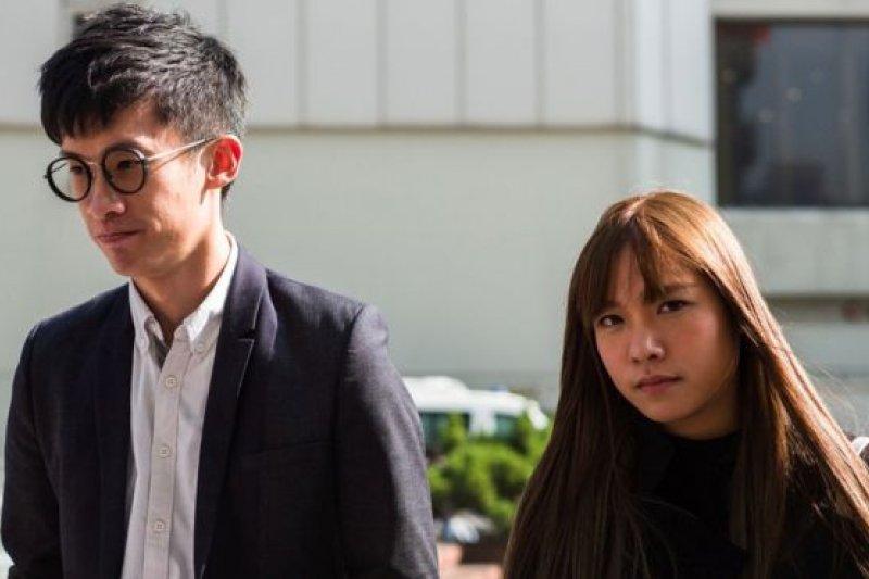香港立法會議員梁頌恆(左)、游蕙禎(右)有意直接向終審法院要求三審。(圖取自BBC中文網)