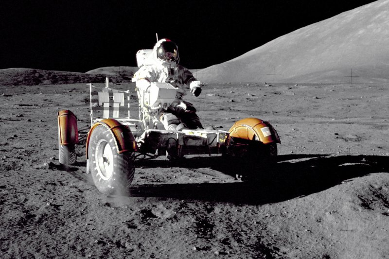 阿波羅17號登陸月球的陶拉斯-利特羅山谷(Taurus-Littrow),並在該地設置三天的暫時基地。(美聯社)
