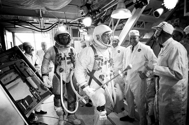 賽南在1966年擔任「雙子星9A」太空船副駕駛。(美聯社)
