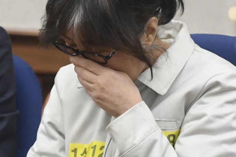 南韓「親信門」的主角,遭停止總統朴槿惠的摯友崔順實。(美聯社)