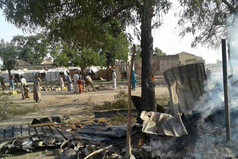 奈及利亞誤炸難民營,造成至少52死的慘劇。(美聯社)