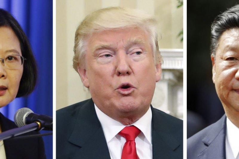 學者認為川普與蔡英文通話挑戰了中國核心利益。(圖/美國之音)