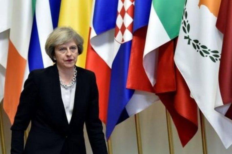 英國首相梅伊對英國脫歐目標和立場都做出了公布。(BBC中文網)