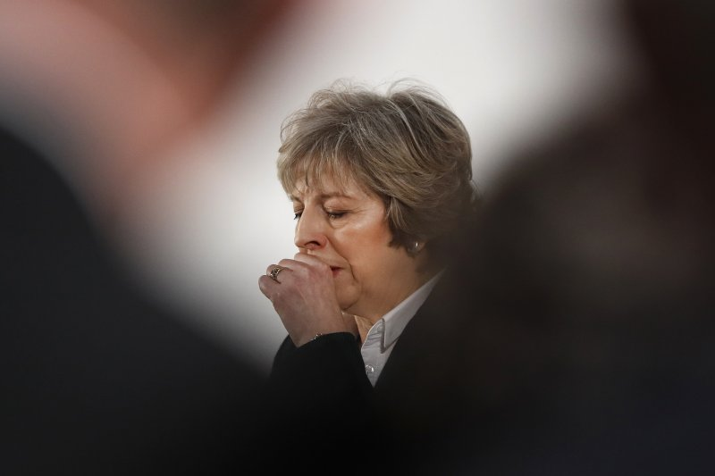 英國首相梅伊提出的「硬脫歐」計畫,令人民憂喜參半。(美聯社)