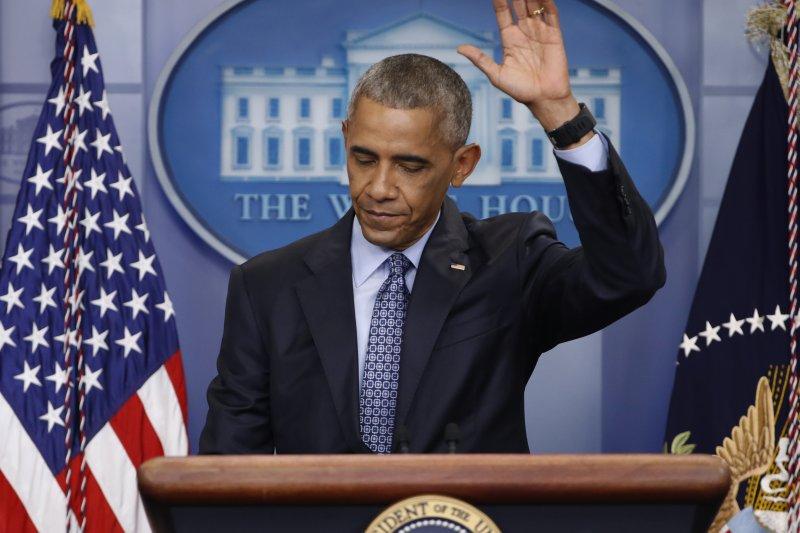 歐巴馬任內最後一次白宮記者會(AP)