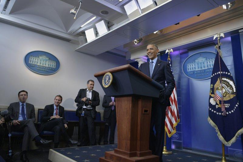 歐巴馬任內最後一場白宮記者會(AP)