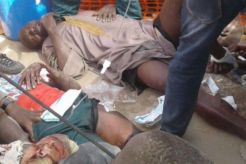 奈及利亞政府軍誤炸難民營,造成至少52死、逾百人傷的慘劇。(©MSF)