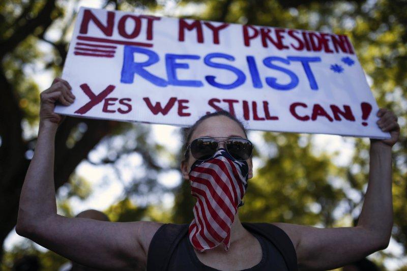 阿根廷女性走上街頭聲援「女人向華盛頓進軍」(Women's March on Washington)(AP)