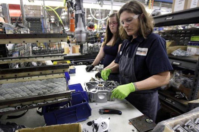 美國製造業工人(AP)