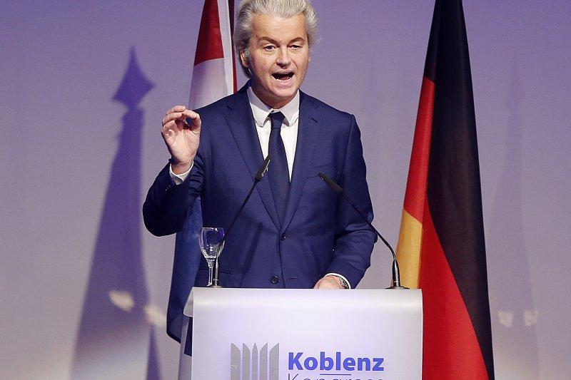 荷蘭極右派政黨「自由黨」(PVV)領導人威爾德斯(Geert Wilders)。(AP)