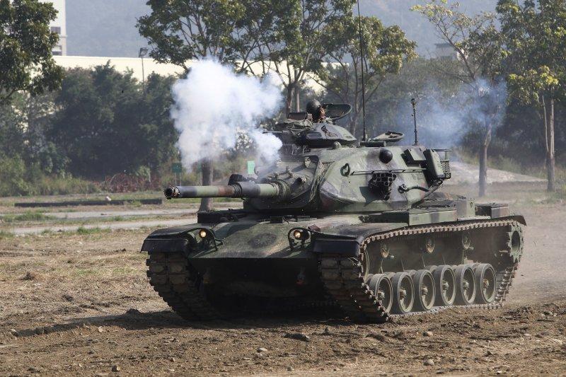 台灣,國軍,M60戰車演習(AP)