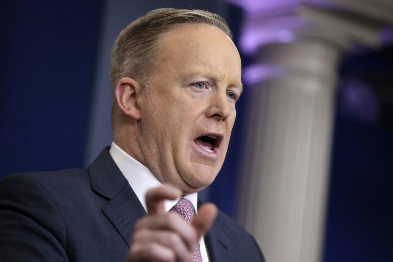 白宮發言人史派瑟(Sean Spicer)。(美聯社)