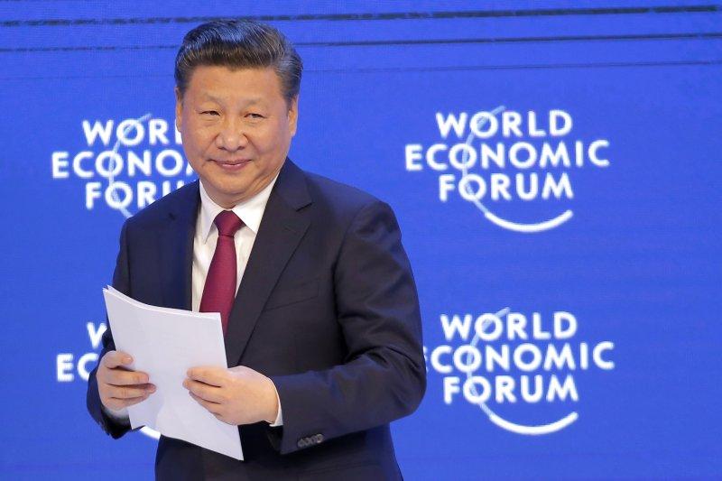 中國國家主席習近平參與瑞士達沃斯(Davos)世界經濟論壇(AP)