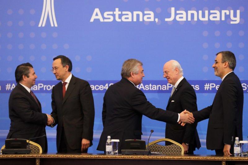 俄羅斯、土耳其和伊朗周二(24日)也就敘利亞問題達成協議,同意設置監督停火協議的三邊機制。(美聯社)