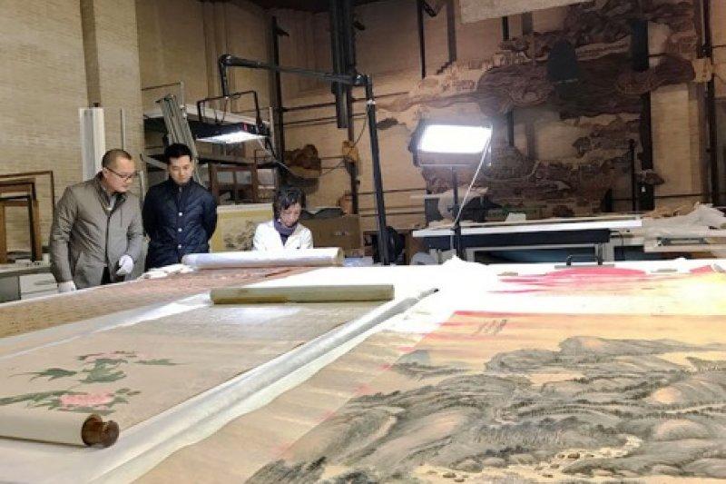 梵蒂岡博物館的文物鑑定修復室。(曾廣儀攝)