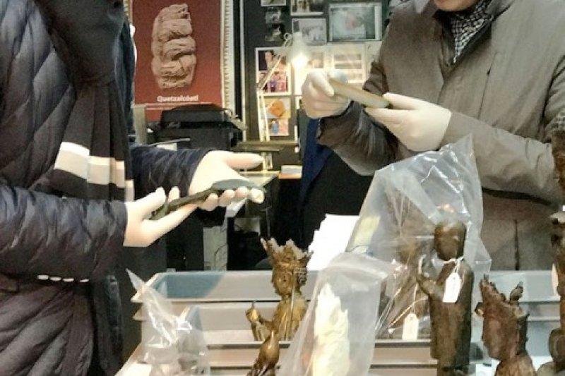 梵蒂岡博物館的文物鑑定修復。(曾廣儀攝)