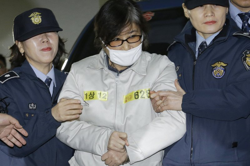 南韓親信門醜聞風暴女主角、朴槿惠總統閨蜜崔順實(AP)
