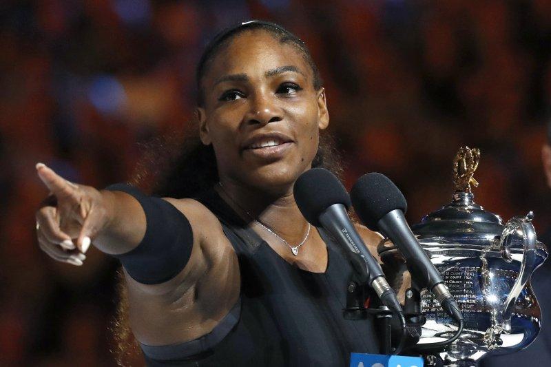 美國網球黑人女將小威廉絲(Serena Williams)挺身而出,呼籲重視男女同工不同酬問題(AP)