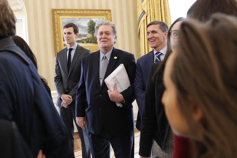 川普新政府,川普女婿庫許納、白宮策略長巴農、國家安全顧問佛林(AP)