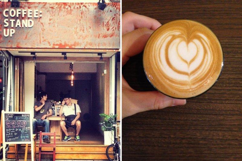 這些咖啡店雖小,裝潢設計卻一點也不馬虎,價格一杯不到百元就可以輕鬆解決!(圖/COFFEE : STAND UP@facebook)