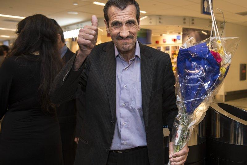 伊朗男子瓦耶漢歷經波折才入境美國(AP)